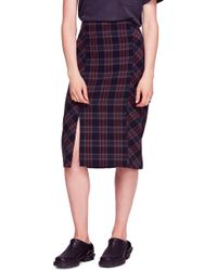 Free People - See You Glow Plaid Panel Skirt - Lyst