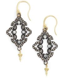 Armenta - Old World Open Scroll Drop Earrings - Lyst
