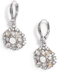 Marchesa - Small Drop Sparkle Earrings - Lyst