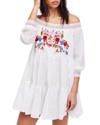 Free People - Sunbeams Minidress - Lyst