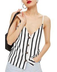TOPSHOP - Stripe Camisole - Lyst