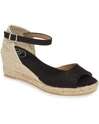 Toni Pons Llivia Wedge Sandal - Black