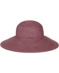 Eric Javits -  hampton  Straw Sun Hat - Purple - Lyst 18d45d8009d5