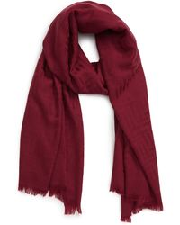 Ted Baker - Mono Wool Scarf - Lyst