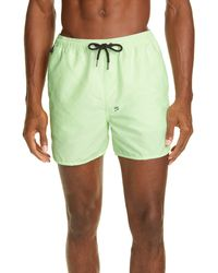 Ksubi Cotton & Nylon Swim Trunks - Green