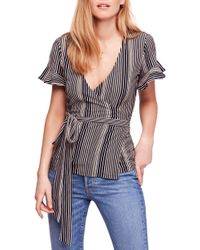 Free People - Wrapped Around My Finger Wrap Top - Lyst