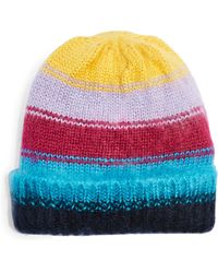 TOPSHOP Brush Striped Ombre Beanie Hat - Multicolour