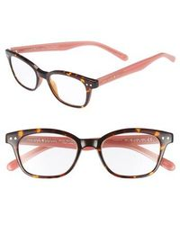 Kate Spade - Rebecca 47mm Reading Glasses - Dark Havana - Lyst