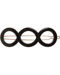 France Luxe Triple Circle Tige Boule Barrette - Black