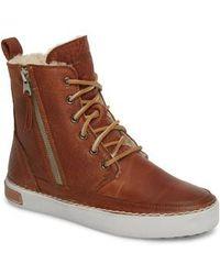 Blackstone - 'cw96' Genuine Shearling Lined Sneaker Boot - Lyst