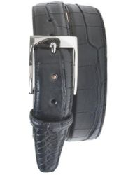 Martin Dingman | 'wellington' Matte Finish Genuine Alligator Leather Belt | Lyst