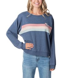 Rip Curl Revival Stripe Sweatshirt - Blue