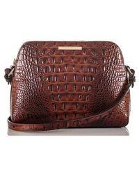 Brahmin - Mini Syndey Embossed Leather Crossbody Bag - Lyst