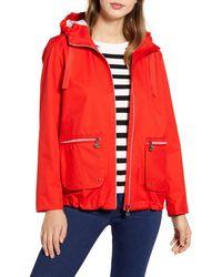 Bernardo Hooded Rain Jacket - Red