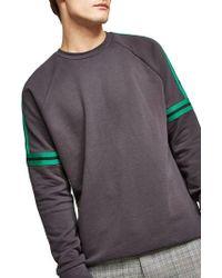 TOPMAN - Tape Crewneck Sweatshirt - Lyst