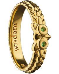 Monica Rich Kosann - Wisdom Owl Poesy Ring Charm - Lyst