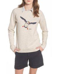 Barbour - Morpeth Puffin Print Sweatshirt - Lyst