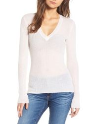 e3aadd1909 James Perse - Cashmere V-neck Sweater - Lyst