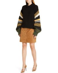 Baum und Pferdgarten Claudine Stripe Sleeve Sweater - Black