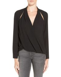 Trouvé | Cutout Surplice Top | Lyst