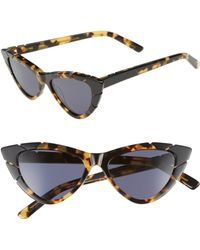Pared Eyewear X Salty Blonde Piccolo Grande 50mm Cat Eye Sunglasses - Marble Tortoise/ Solid Gray