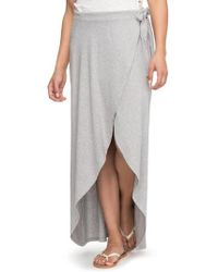 Roxy - Everlasting Afternoon Long Wrap Skirt - Lyst