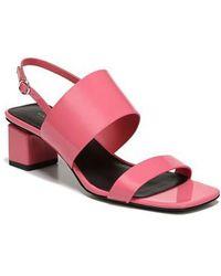 Via Spiga | Forte Block Heel Sandal | Lyst