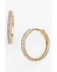 Nadri - Small Pave Hoop Earrings (nordstrom Exclusive) - Lyst