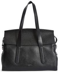 Reiss Chancery Leather Satchel - Black