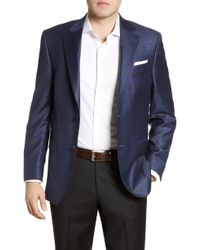 Peter Millar Flynn Classic Fit Plaid Wool Sport Coat - Blue