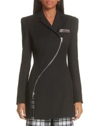 Alexander Wang - Zipper Detail Overcoat - Lyst