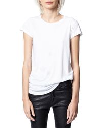 Zadig & Voltaire Crystal Stars Top - White