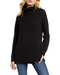 BP. Longline Turtleneck Sweater - Black