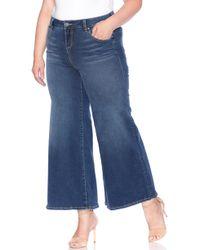 Slink Jeans - Slink High Waist Wide Leg Crop Jeans - Lyst