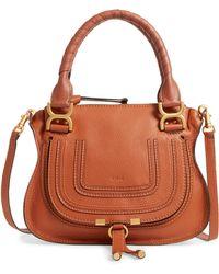 Chloé - Chloé Small Marcie Leather Satchel - Lyst