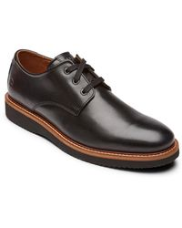 Dunham Clyde Plain Toe Derby - Black
