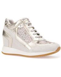Geox - Nydame Embellished Wedge Sneaker - Lyst