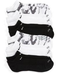 Nike - 6-pack Dri-fit No-show Socks, Grey - Lyst