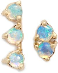 Wwake - 'counting Collection - Three-step & Two-step' Opal Earrings - Lyst