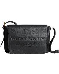 Burberry - Small Burleigh Leather Crossbody Bag - Lyst ea20f8b793ee2