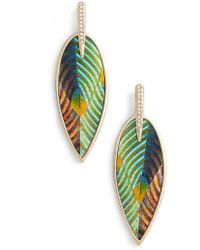 Vince Camuto - Inlaid Leather Statement Earrings - Lyst