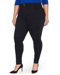 REBEL WILSON X ANGELS - Studded High Waist Skinny Jeans - Lyst