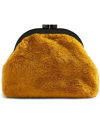 387e58b44939 Lyst - Topshop Grinning Fluffy Keyring in Yellow