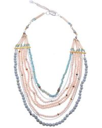Nakamol - Agate & Crystal Long Multistrand Necklace - Lyst