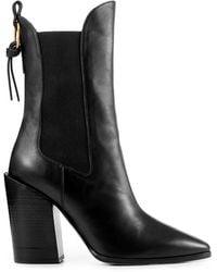 FRAME Le Manhattan Pointed Toe Chelsea Boot - Black