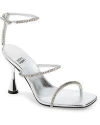 Jeffrey Campbell Demonic Ankle Strap Sandal - Metallic