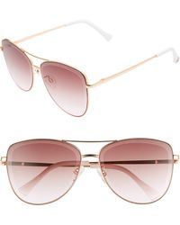 Sam Edelman 53mm Aviator Sunglasses - Multicolor