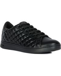 b7d9a9e7bb0e Geox Jaysen Leopard-Print Suede Sneakers - Lyst
