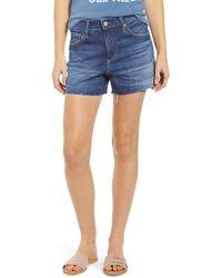 AG Jeans Hailey Boyfriend Cutoff Denim Shorts - Blue