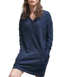 ALLETTE Margot Nursing Sweater Dress - Blue